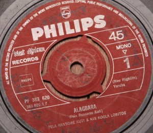 "Fela Ransome-Kuti and His Koola Lobitos Onidodo b/w Alagbara (7"" Nigeria, Phillips West Africa Records PF383 620)"
